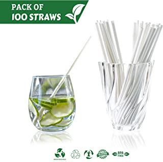 Siply Paper Biodegradable Drinking Straws – Disposable, Eco-Friendly & Dye-Free | Individually Wrapped Bulk Paper Straws | For Smoothies, Milkshakes, Cocktails, Restaurants, Party Supplies (100)