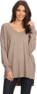 A+D Women's Oversized Extra Soft V-Neck Pullover Sweater...