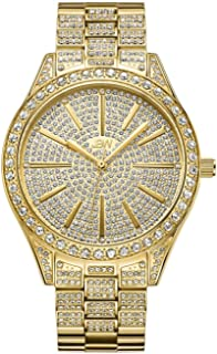 JBW Women's Luxury Cristal 12 Diamonds & 467 Swarovski Crystals Full Bling Watch