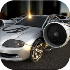 Multiplayer Awesome Hybrid Jet Cars Cutting edge realistic 3D graphics Extremely long jumps possible with the turbo jet engines 21 levels 14 cars to unlock and choose from One huge level without a time limit for free jumping