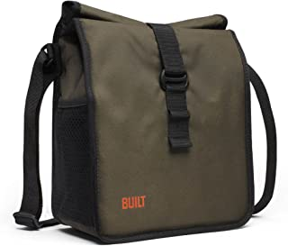 BUILT NY Built NY LBM02-OLV Crosstown Stain Resistant Insulated Lunch Bag with Adjustable Shoulder Strap, Olive,