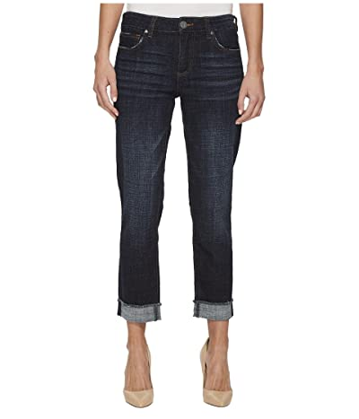 KUT from the Kloth Amy Crop Straight Leg-Roll Up Frey Jeans (Acknowledging/Euro Base Wash) Women
