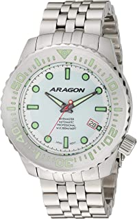Men's EVO Automatic Stainless Steel Strap, Silver, 22 Casual Watch (Model: A264WHT)