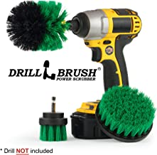 Drillbrush Green Kitchen Cleaning Drill Brushes - Stainless Steel Sink Cleaner/Copper Sink Cleaner - Electric Stove Cleaner/Gas Stove Cleaner - Kitchen Cleaner/Kitchen Brush - Cabinet Cleaner