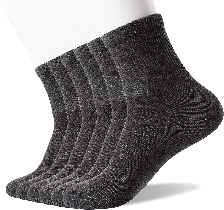 Well Knitting Men's Diabetic Max Weekly update 75% OFF Socks Toe Top Non-Binding Seamless