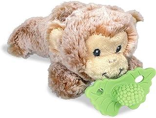 RaZbaby RaZbuddy RaZberry Teether Mint/Pacifier Holder w/Removable Baby Teether Toy - 0M+ - Bpa Free - Monkey
