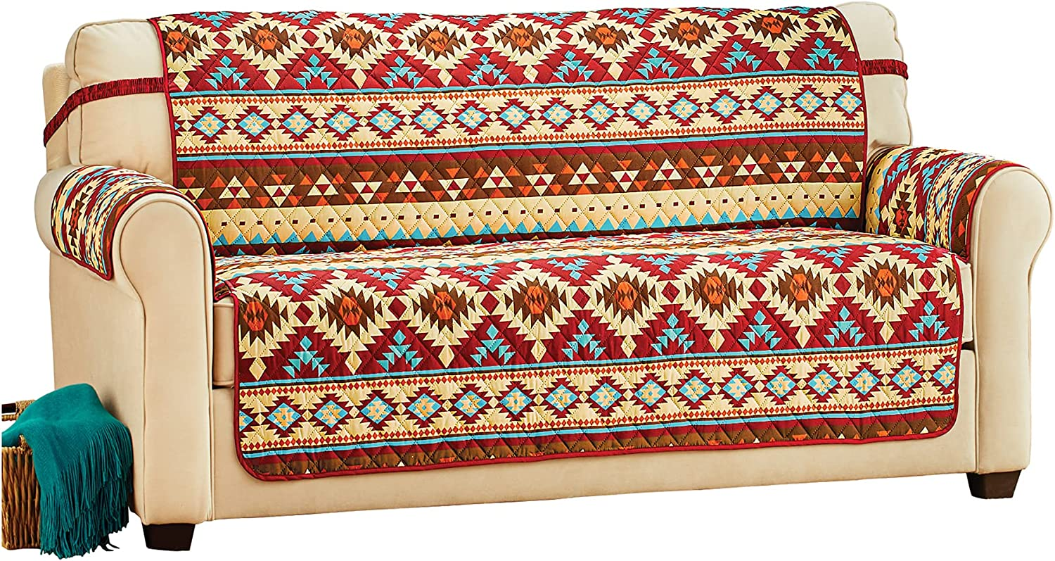 Collections Quantity limited Etc Super special price Reversible Aztec Pattern Fur Protective Quilted