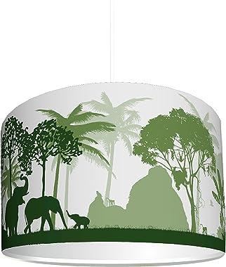 """STIKKIPIX abat-jour """"Jungle verte"""" – KL43 – lampe dans le style jungle à installer facilement – idéal comme lampe à p"""