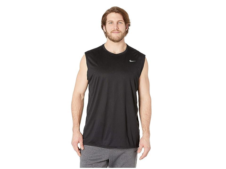 Nike Big Tall Dry Tee Sleeveless Legend 2.0 (Black/Black/Matte Silver) Men