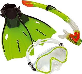 Schildkroet-Funsports Unisex's Turtle Bermuda Three Part Snorkel Set, Multi-Colour, Small(27-32)