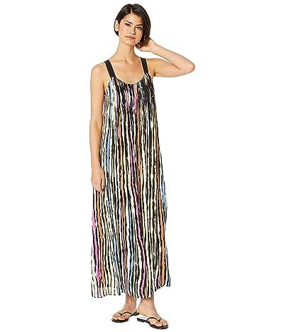 BCBGMAXAZRIA Striped Maxi Dress (Chalky Stripe Multi) Women