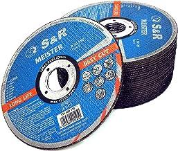 S&R Disque 125 Meule à tronçonner Métal, Acier, Acier Inox, Aluminium (125 x2,0x22,23mm A30) - 25 Disques pour Meuleuse d'Angle