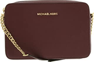 Michael Kors Women's Large Jet Set Saffiano Leather Crossbody Cross Body Bag Satchel