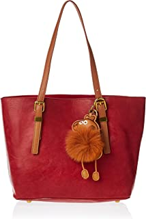 Zeneve London Womens Tote Bag, Red - 1191832211