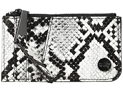 QUAY AUSTRALIA Top Zip Wallet (White/Black/Gun) Handbags