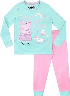 Peppa Pig Pijamas de Manga Larga para niñas Unicornio Ajuste Ceñido