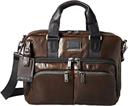 Alpha Bravo Albany Leather Slim Commuter Brief