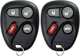KeylessOption Keyless Entry Remote Control Car Key Fob for Corvette C5 KOBLEAR1XT (Pack of 2)