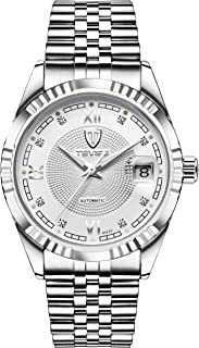 Tevise Casual Watch Analog Stainless Steel Band for Men, Silver, 629-003SW