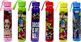 perpetual bliss cartoon character water bottle for boys girls kids birthday party return gift(pack of 6)- Multi color