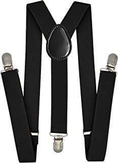 Trilece Kids Boys Suspenders - Girls Toddler Baby - Adjustable Elastic Y Back and Strong Clips - Various Solid Colors