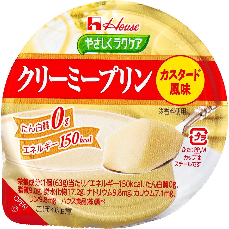 つぶやき窒素赤字ハウス食品 やさしくラクケア クリーミープリン(たん白質0g) カスタード風味 63g×12個