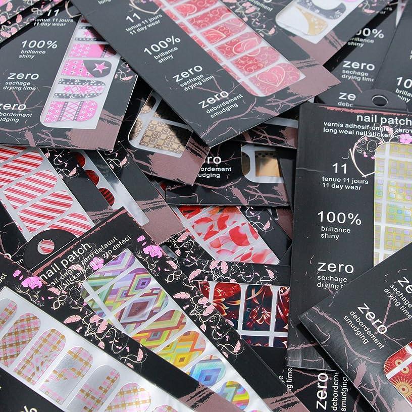 やさしくアジア人幾何学BlueZOO (ブルーズー) 高品質 ファッション爪デコシール 16シート/枚 ネイルステッカー 貼るだけ マルチモデル 全面ネイルシート
