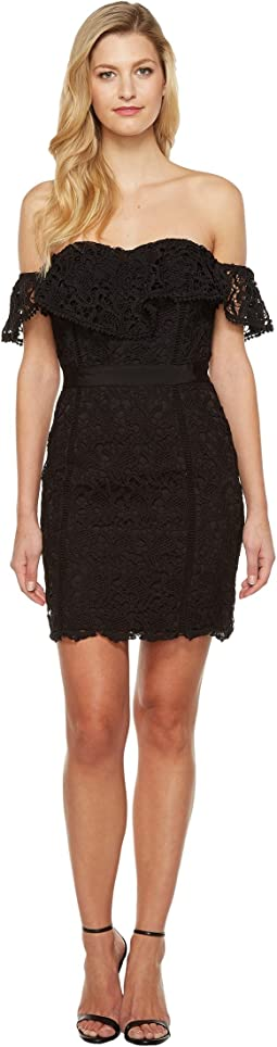 Adelyn Rae Maddie Woven Lace Tube Dress