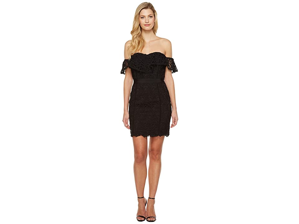 Adelyn Rae Maddie Woven Lace Tube Dress (Black) Women