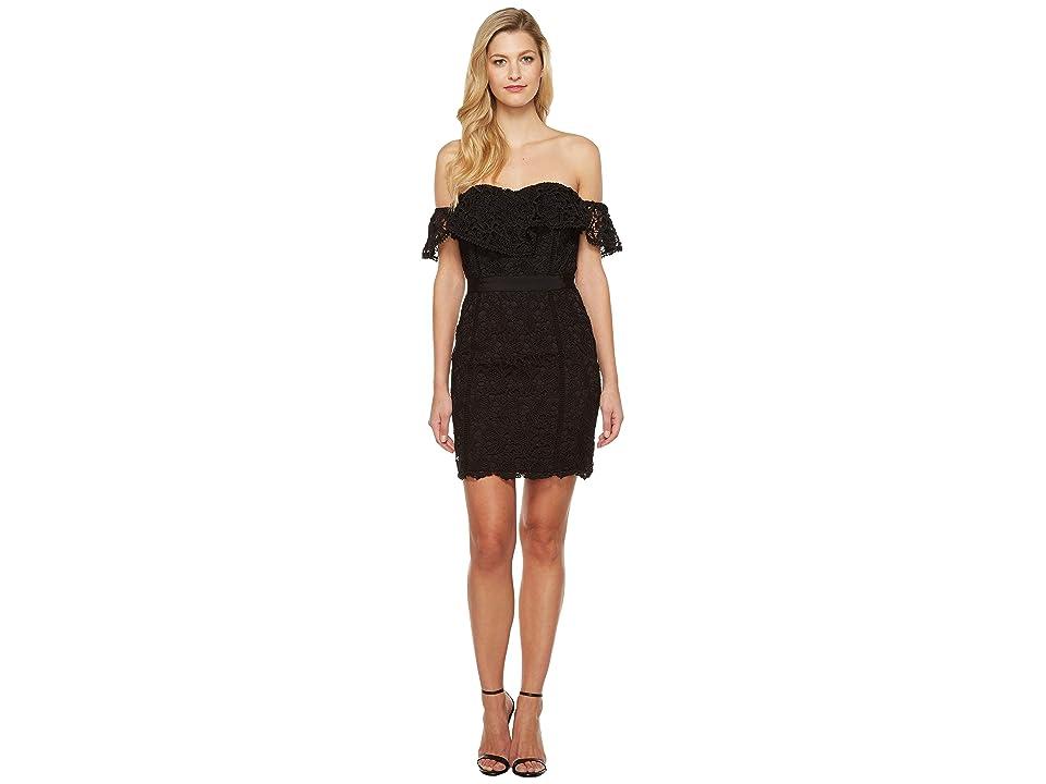 Adelyn Rae Maddie Woven Lace Tube Dress (Black) Women s Dress d4d7fb841a