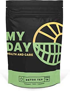 My Day 14 Day Detox, Immune System Support, Weight Loss and Gentle Cleanse 100% Natural Herbal Tea, Teatox for Belly Fat,Laxative-Free,14 Servings