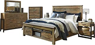 Ashley Sommerford 6PC Bedroom Set Queen Panel Bed Two Nightstand Dresser Mirror Chest in Brown