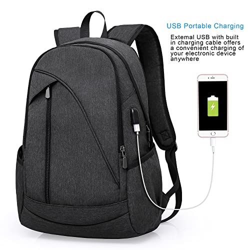 6977966aa847 ibagbar Water Resistant Laptop Backpack with USB Charging Port Fits up to  15.6-Inch Laptop