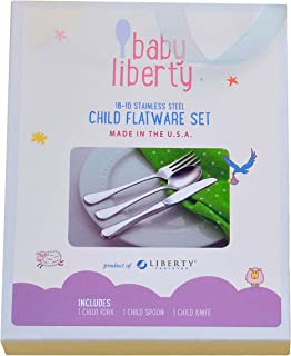 Baby Liberty 3 Piece Child Flatware Set in Gift Box Made in USA