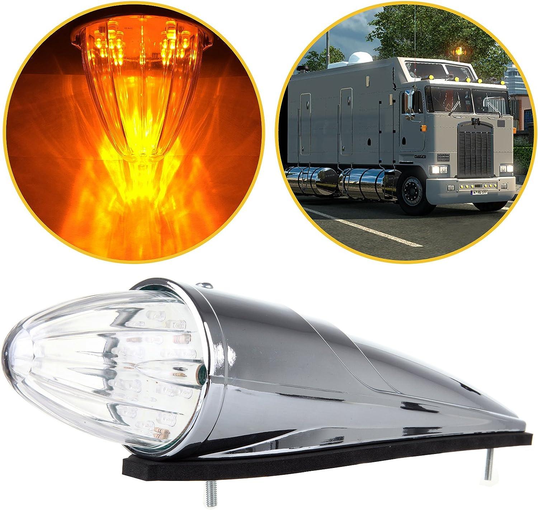 ECCPP Marker Light Award Cab 1PCS 17LED online shopping Chrome Torp Amber