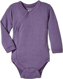 Organic Long Sleeve Modern Solid Kimono Bodysuit/Onesie