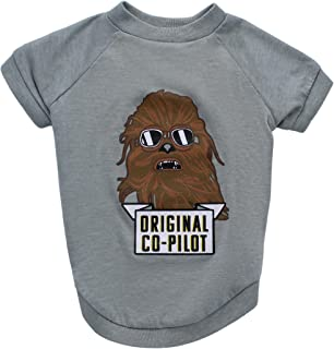 Star Wars Chewbacca Original Co-Pilot Dog Tee | Star Wars Dog Shirt for Large Dogs | Large