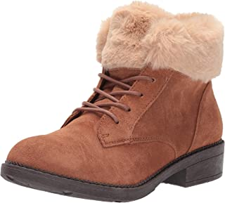 Skechers womens ELM - Shot Lace Up Boot with Faux Fur Collar