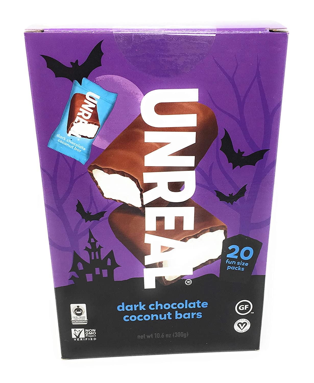 Unreal Chocolate Dark Coconut Bars Oun Halloween Max Max 48% OFF 78% OFF Count 9 10.6