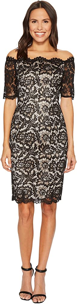 Vince Camuto - Lace Off The Shoulder Bodycon Dress