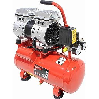 Compresor de aire de 8 L, sin aceite, compresor de aire comprimido, silencioso, 550 W, silencioso, 1380 rpm, 40 L/min.: Amazon.es: Bricolaje y herramientas