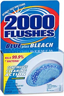 WD-40 Company Products - Cleaner, Toilet Bowl, w/ Bleach and Blue Detergents, 3-1/2 oz - Sold as 1 EA - Automatic Toilet Bowl Cleaner kills 99.9 percent of bacteria. Improved concentrated tablet delivers continuous cleaning action to sanitize, clean and deodorize for up to four months.