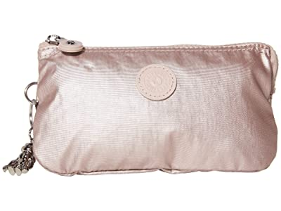 Kipling Creativity Large Pouch (Metallic Rose) Clutch Handbags