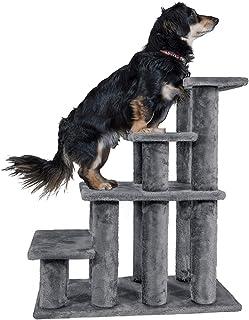 سلالم الحيوانات الأليفة المتينة وسهلة متعددة الخطوات من فرهافن بت - سلالم مساعدة للكلاب والقطط، رمادي، 4 درجات