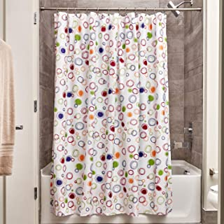 iDesign Fabric Doodle Shower Curtain for Master, Guest, Kids', College Dorm..