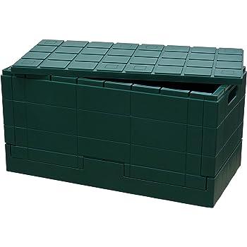 岩谷マテリアル グリッドコンテナ グリーン 本体サイズ:約60×30×30cm SKGCG