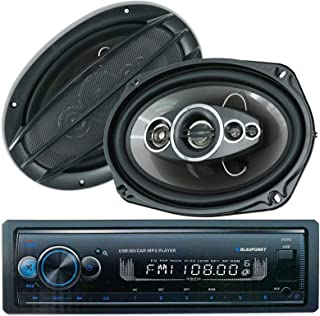 """$59 » 2X Audiobank AB-690 6"""" x 9"""" 700 Watts 5-Way Car Audio Stereo Coaxial Speakers and Blaupunkt Irvine70 1 Din MP3 Receiver US..."""