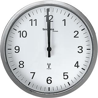 Technoline WT 8950 Radio-Controlled Wall Clock 30 cm Chrome
