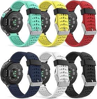 MoKo Garmin Forerunner 235 Watch Band, Soft Silicone Replacement Watch Band for Garmin Forerunner 235/235 Lite / 220/230 / 620/630 / 735XT Smart Watch, 6PCS (Multi-Colors)