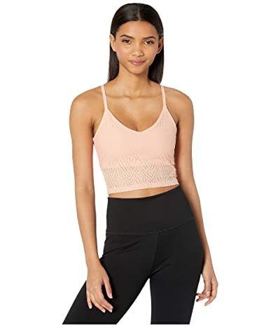 Beyond Yoga Mesh In Line Cropped Tank (Coral Dust) Women
